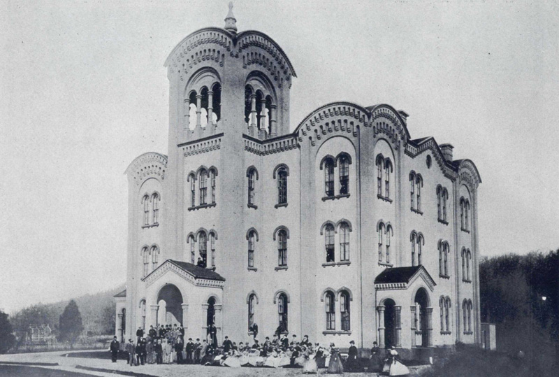 Historic photo of the original Tirrell building